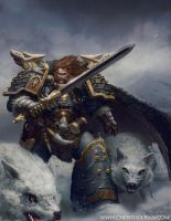 Leman Russ Space Wolf Primarch by Chenthooran