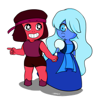 Ruby and Sapphire by AliceAoi
