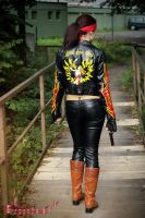 Claire Redfield RE2 Alternate biker cosplay II by Rejiclad