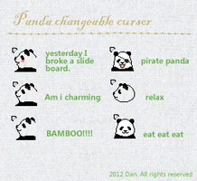 Shirokuma Cafe-panda changeable cursor by ltxg13