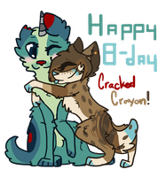 Happy B-day CrackedCrayon! by powiibo