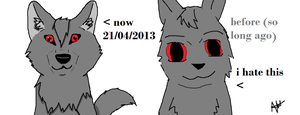 before/after by wolfmad123