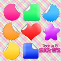 Pack de Stickers by LauraClover