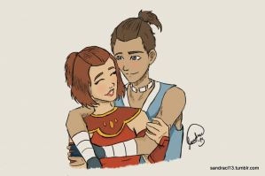 Suki and Sokka by Sandra-13