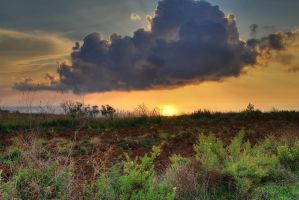 Clound in sunset - HDR by yoctox