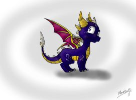 Spyro and cynders kid Dash by Insaneus