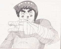 Rock Lee unfinished by ydoc16