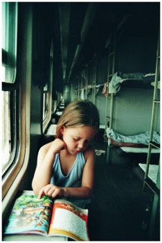 an early morning on a train by Gonzale