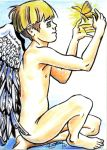 Angelboy and Butterfly by TWStatonGallery