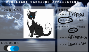 For Moonlight Warriors my char ref by imwolfawesome