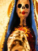 Virgin Mary with the red lips by thingsbyjen