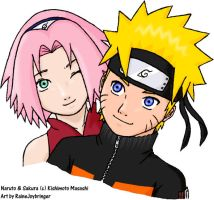 Team 7-Sakura and Naruto by RaineyJ