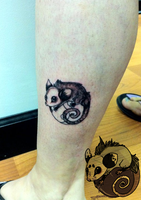 opossum tattoo by Anklebones