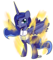 Luna Final Flash While Saiyan Armor by Bukoya-Star