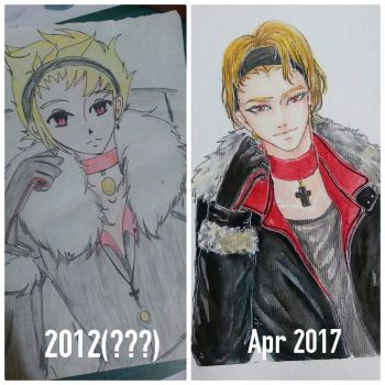 2012 VS 2017 Draw this again meme by MaidMei
