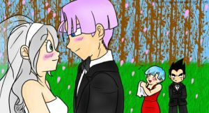 DBZ - Wedding Bells color by La-Mishi-Mish
