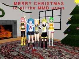 MMD - Christmas room redone by Wampa842