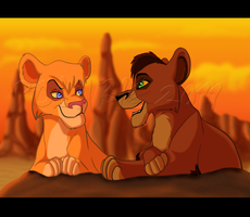 Vitani and Kovu by RakPolaris