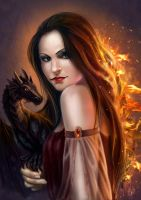 Olga and Dragon by Elistraie
