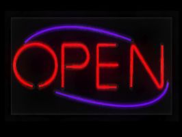 Neon Open Sign 3D Resource by pixelworlds