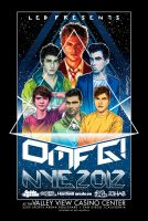 OMFG New Year's Eve 2012 Poster Art by meltendo
