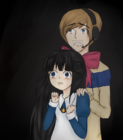 PewDiePie and Aya (Mad Father) by joannawentbananas