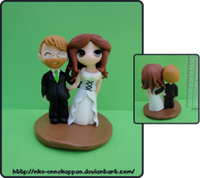 Chibi Wedding Cake Topper by Nko-ennekappao
