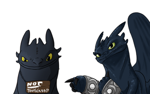 Not Toothless by yamilink