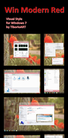 Win Modern Red for Win 7 by TiborioART