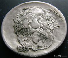Hobo Nickel Hand carved coin by Shaun Hughes OHNS by shaun750