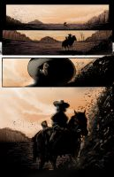 Western Comic Iss 1 pg1 colors by RNABrandEnt