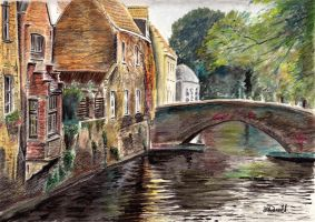 Bruges Reflections by SRussellart