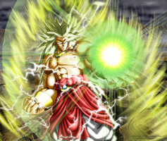 BROLY : THE LEGEND AS SSJ3 by Saiyakupo
