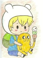 chibi finn and jake by Angelsketch-artist
