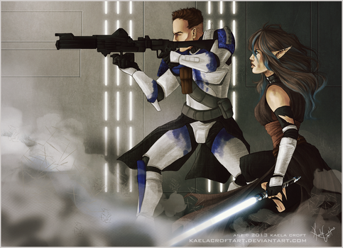 Star Wars Clone Troopers In Battle Art