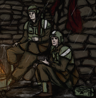 At The Front Lines by Captain-Asparagus