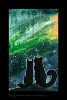 Northern lights [bookmarks] by HeatherWolf