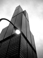 Sears Tower Looking Up by stitch52481
