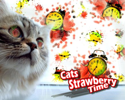 stockproject cat clock Fruit by dave-d-art