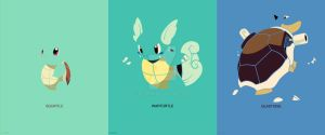 Minimalist Pokemon 7 to 9 by Boydom