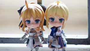 Saber Sisters by shawnical