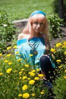 Sheryl Nome in the Flowers by The-Prez