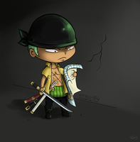Zoro chibi by stitch-84