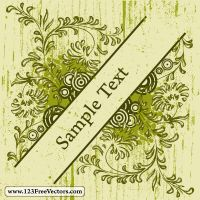 Vintage Floral Frame Vector by 123freevectors