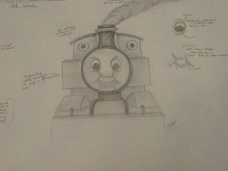 Demented Thomas The Train by ElectricDucky