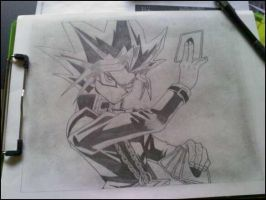 Sketch of Yami Yugi by xMystery21x