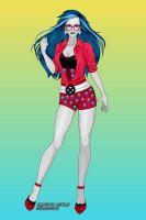 X-Girl Gloom Beach Ghoulia by autumnrose83