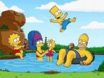 The Simpsons at a Lake by smartjazzgirl