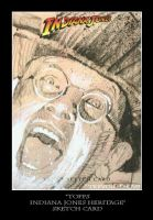 Sketch Card-Indiana Jones 4 by TrevorGrove