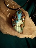 Heart Of The Forest Labradorite Pendant by LunaSolare1